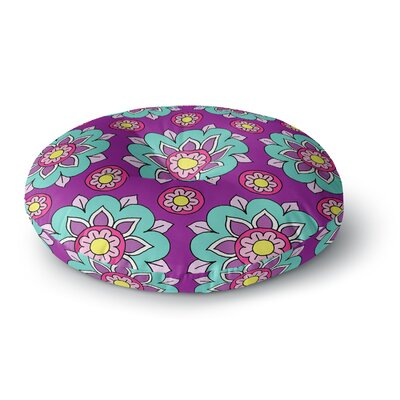 Sarah Oelerich Bright Blossoms Round Floor Pillow Size: 23 x 23