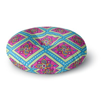 Sarah Oelerich Colorful Diamonds Round Floor Pillow Size: 26 x 26