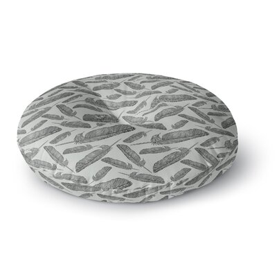 Sam Posnick Feather Scene Round Floor Pillow Size: 23 x 23