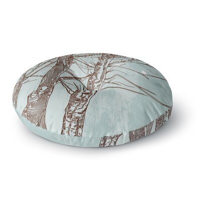 Sam Posnick Winter Trees Round Floor Pillow Size: 26 x 26
