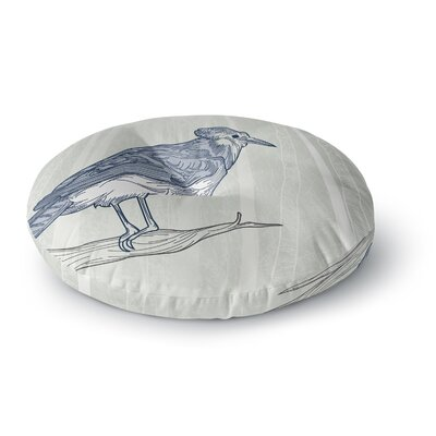 Sam Posnick Blue Jay Round Floor Pillow Size: 23 x 23