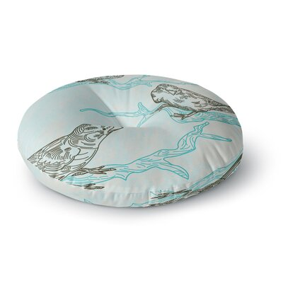 Sam Posnick Birds in Trees Round Floor Pillow Size: 23 x 23