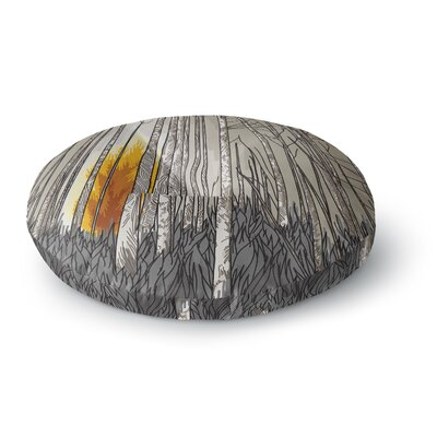 Sam Posnick Smokey Forest Fire Round Floor Pillow Size: 26 x 26