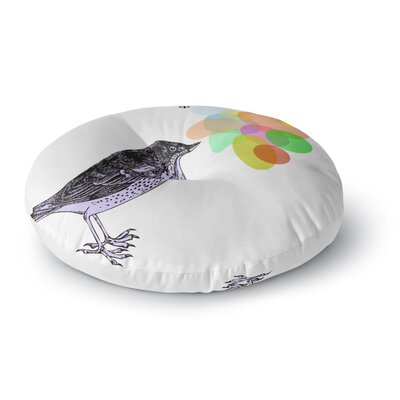 Sreetama Ray Candy Birds Geometry Bird Round Floor Pillow Size: 23 x 23