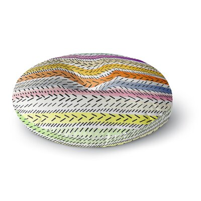 Sreetama Ray Dash 3 Dashed Paint Round Floor Pillow Size: 23 x 23