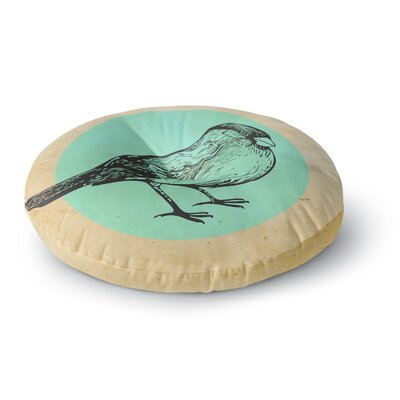 Sreetama Ray Old Paper Bird Circle Round Floor Pillow Size: 26 x 26