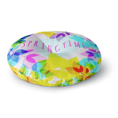 Sreetama Ray Seasons Springtime Rainbow Leaves Round Floor Pillow Size: 23 x 23
