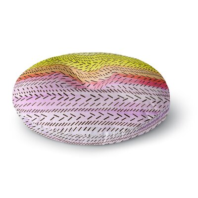 Sreetama Ray Sunshine Warm Paint Round Floor Pillow Size: 26 x 26
