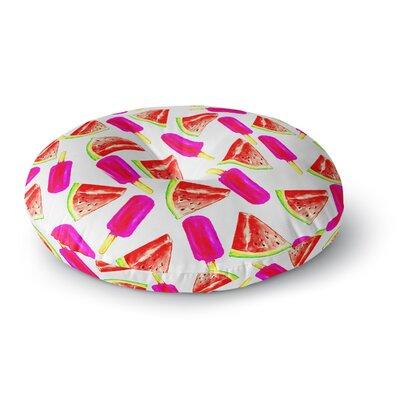 Sreetama Ray Strawberry & Watermelon Round Floor Pillow Size: 26 x 26
