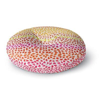 Sreetama Ray Sunset Arrows Abstract Round Floor Pillow Size: 26 x 26