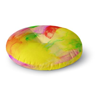 Sreetama Ray Chemical Lovestory Watercolor Round Floor Pillow Size: 26 x 26