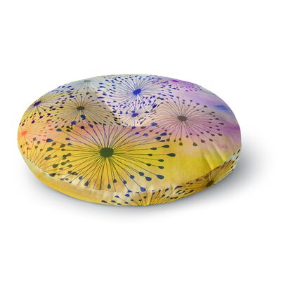 Sreetama Ray Bursting Blossoms Round Floor Pillow Size: 26 x 26
