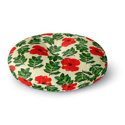 Sreetama Ray No More Peonies Round Floor Pillow Size: 23 x 23