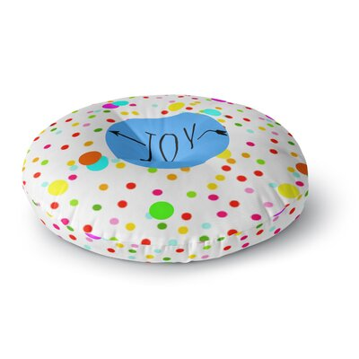 Sreetama Ray Oh Joy Rainbow Round Floor Pillow Size: 26 x 26