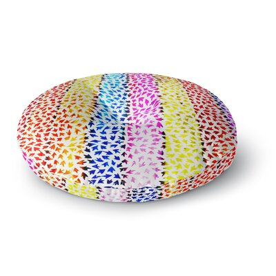 Sreetama Ray Rainbow Arrows Round Floor Pillow Size: 26 x 26