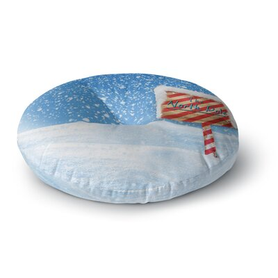Snap Studio North Pole Snow Round Floor Pillow Size: 26 x 26