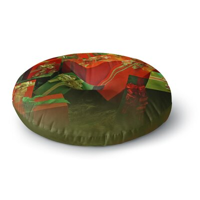Snap Studio Wrapped in Cheer Presents Round Floor Pillow Size: 26 x 26