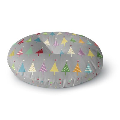 Snap Studio Crazy Trees Rainbow Round Floor Pillow Size: 26 x 26