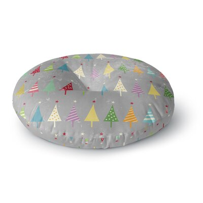 Snap Studio Crazy Trees Frost Rainbow Round Floor Pillow Size: 23 x 23