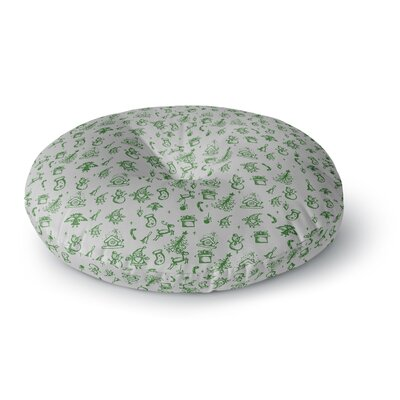 Snap Studio Miniature Christmas Green Round Floor Pillow Size: 26 x 26