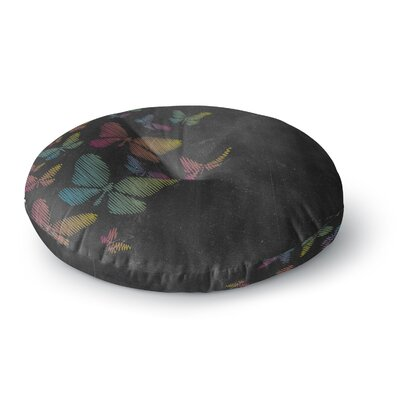Snap Studio Butterflies Chalk Round Floor Pillow Size: 23 x 23
