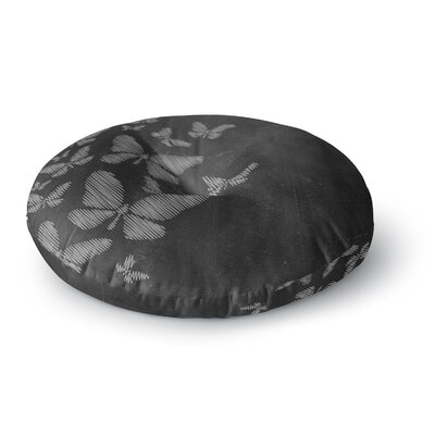Snap Studio Butterflies IV Chalk Round Floor Pillow Size: 26 x 26