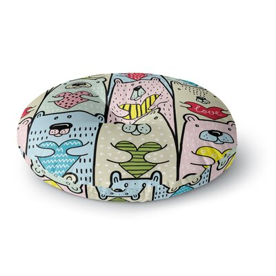 Snap Studio Bear Hugs Animal Illustration Round Floor Pillow Size: 26 x 26