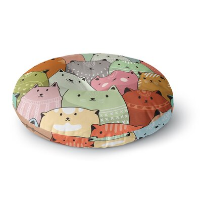 Snap Studio Kitty Attack Cat Illustration Round Floor Pillow Size: 23 x 23