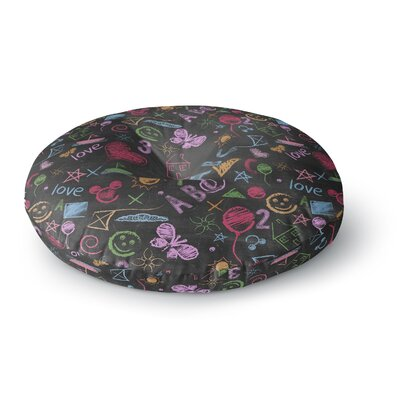 Snap Studio Kindergarden Crazy Rainbow Round Floor Pillow Size: 26 x 26