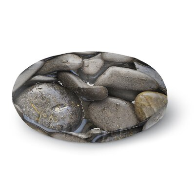 Susan Sanders Skipping Stone Rocks Round Floor Pillow Size: 23 x 23