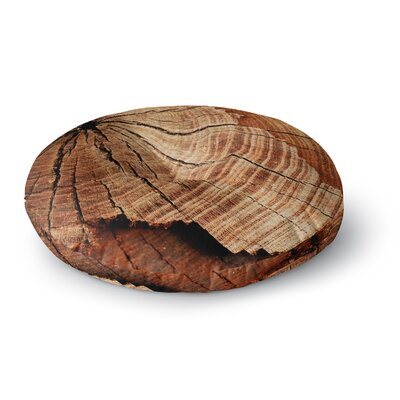 Susan Sanders Rustic Dream Wood Round Floor Pillow Size: 26 x 26