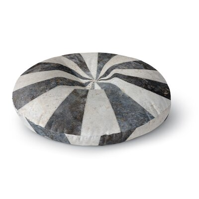 Susan Sanders Stripe Love Round Floor Pillow Size: 26 x 26