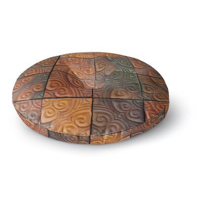 Susan Sanders Whimsy Tile Rustic Round Floor Pillow Size: 23 x 23