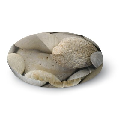 Susan Sanders River Stones Round Floor Pillow Size: 23 x 23