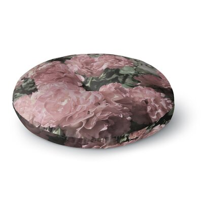 Susan Sanders Blush Pink Flowers Floral Photography Round Floor Pillow Size: 23 x 23