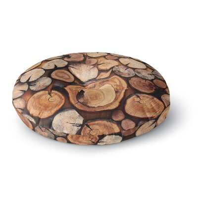 Susan Sanders Rustic Wood Logs Round Floor Pillow Size: 26 x 26