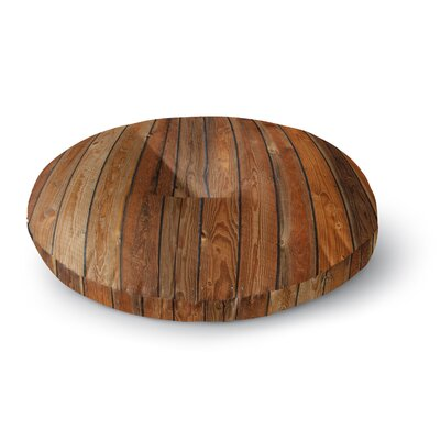 Susan Sanders Rustic Wood Wall Nature Round Floor Pillow Size: 26 x 26