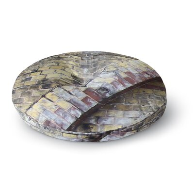 Susan Sanders Painted Grunge Brick Wall Round Floor Pillow Size: 23 x 23