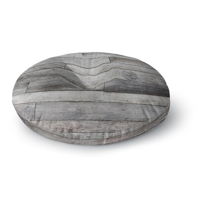 Susan Sanders Gray Rustic Wood Photography Round Floor Pillow Size: 23 x 23