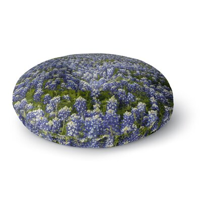 Susan Sanders Purple Flower Lavender Fields Photography Round Floor Pillow Size: 23 x 23