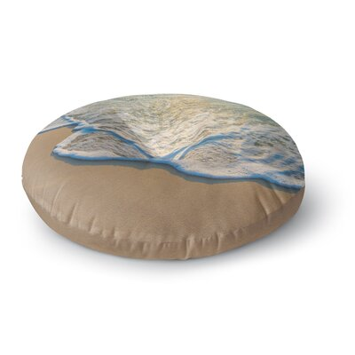 Susan Sanders Ocean Beach Water Photography Round Floor Pillow Size: 23 x 23