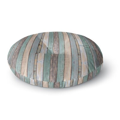 Susan Sanders Coastal Beach Wood Photography Round Floor Pillow Size: 23 x 23