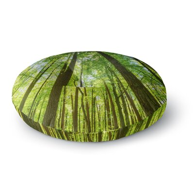 Susan Sanders Green Tree Sky Photography Round Floor Pillow Size: 26 x 26