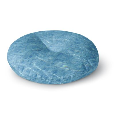 Susan Sanders Calm Blue Pool Water Photography Round Floor Pillow Size: 26 x 26