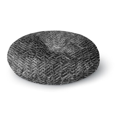 Susan Sanders Charcoal Gray Bamboo Weave Photography Round Floor Pillow Size: 23 x 23