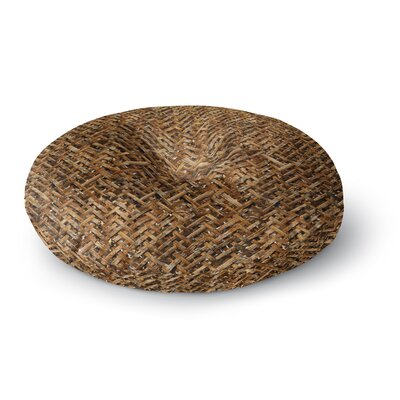 Susan Sanders Brown Bamboo Basket Weave Photography Round Floor Pillow Size: 23 x 23