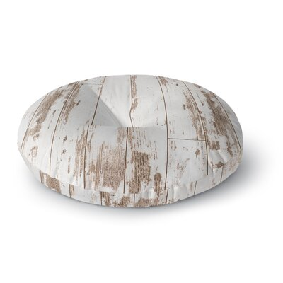 Susan Sanders White Barn Weathered Wood Photography Round Floor Pillow Size: 26 x 26