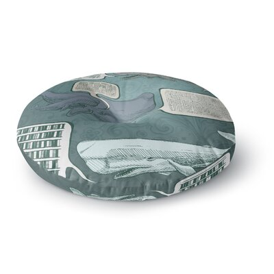 Sophy Tuttle Whale Talk Round Floor Pillow Size: 23 x 23