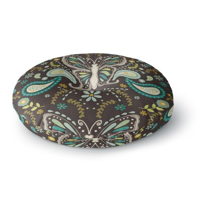 Suzie Tremel Butterfly Garden Round Floor Pillow Size: 23 x 23