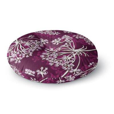Suzie Tremel Squiggly Floral Round Floor Pillow Size: 26 x 26